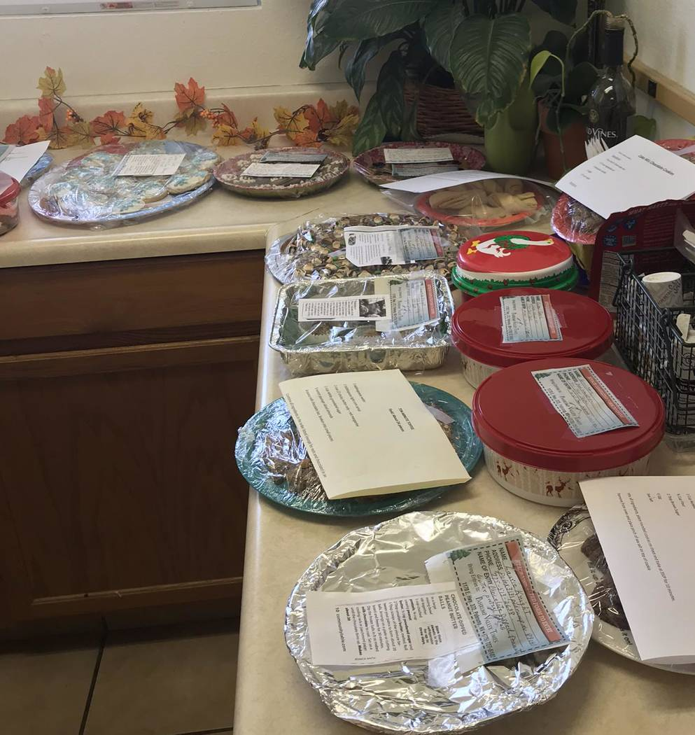 Jeffrey Meehan/Pahrump Valley Times Several plates of sugary treats filled the counters of the Pahrump Valley Times' headquarters at 1570 E. Highway 372 on Nov. 13, 2017. More than a dozen people  ...