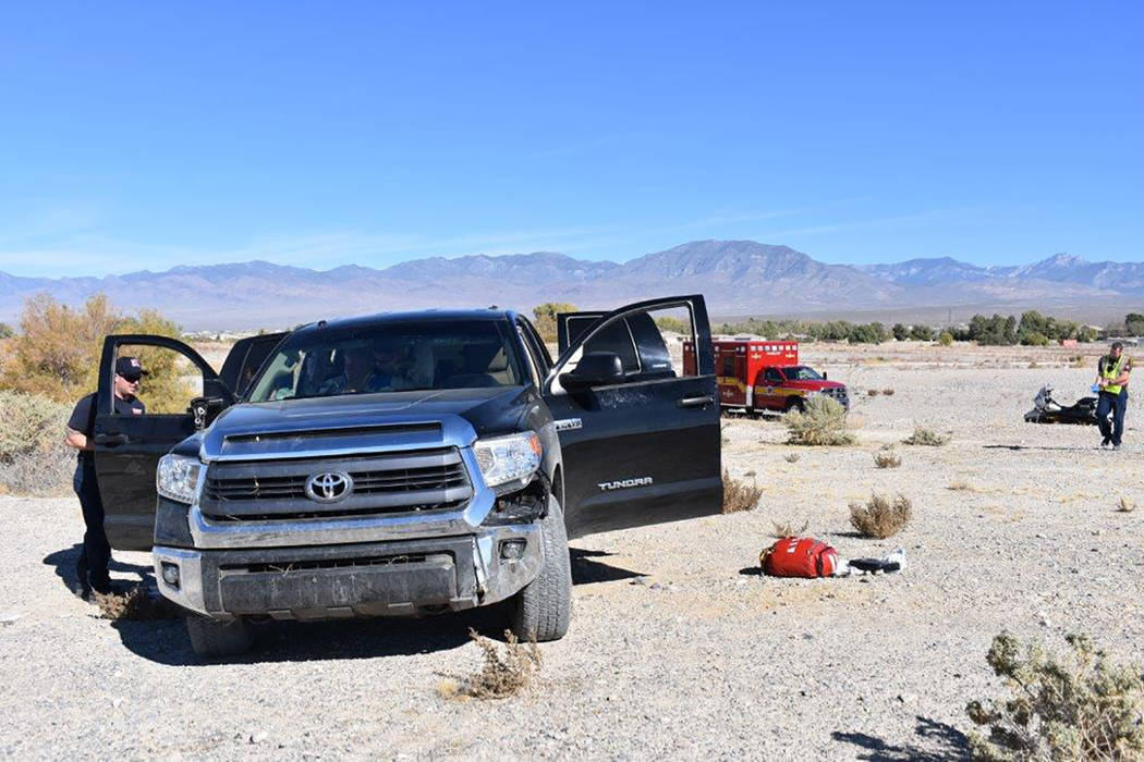 Special to the Pahrump Valley Times  Nye County Sheriff's deputies continue their investigation into the cause of a motor vehicle mishap last Friday morning, along Highway 372 at Red Butte Stree ...