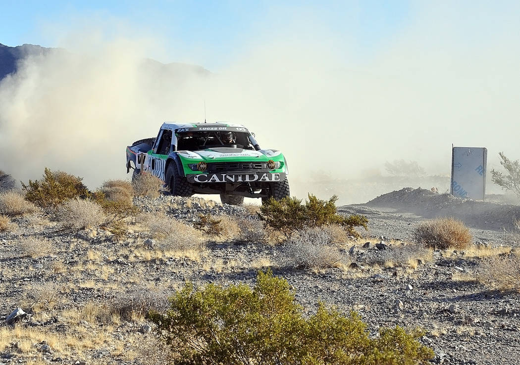Horace Langford Jr./Pahrump Valley Times -  The  Pahrump Nugget 250 Off Road race travels mostly through the Amargosa Valley and is 255 miles long. At points along the race, the racers are traveli ...