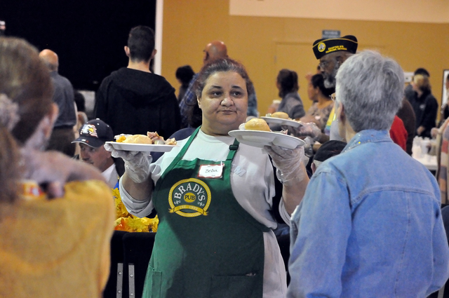 Horace Langford Jr. / Pahrump Valley Times  The NyE Communities Coalition volunteers will be serving Thanksgiving meals for its 11th annual event for residents of the Pahrump Valley on Nov. 23 at  ...