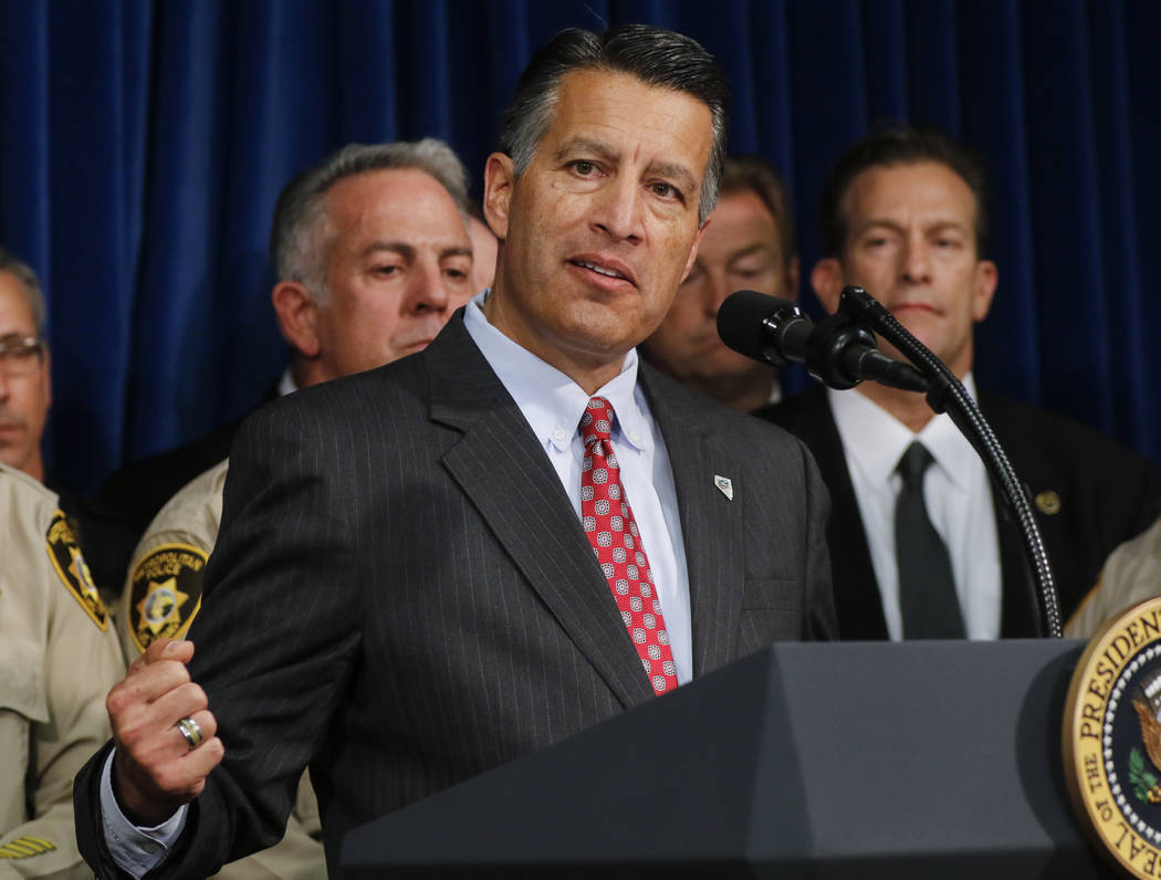 Chase Stevens/Las Vegas Review-Journal Nevada Gov. Brian Sandoval as shown in a file photo earlier this fall.