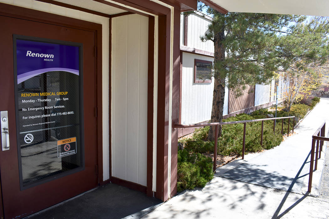 Daria Sokolova/ Pahrump Valley Times Since Renown Medical Group-Tonopah opened its doors on June 1, 2016, it added telemedicine for primary care and 30 specialty and lab services. The Tonopah clin ...