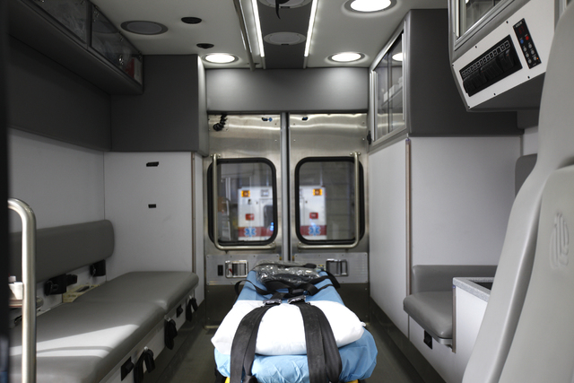 Rachel Aston/Las Vegas Review-Journal The inside of a Goldfield ambulance is seen on Monday, Oct. 3, 2016, in Tonopah, Nev.