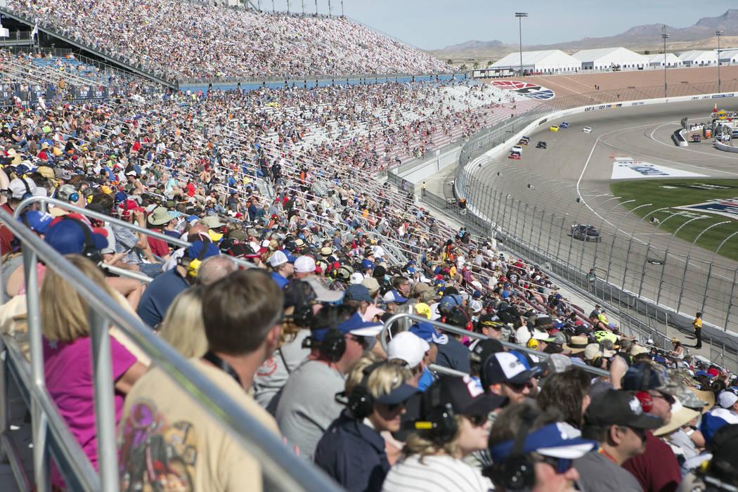 Bridget Bennett/Las Vegas Review-Journal A look at fans at Las Vegas Motor Speedway earlier this year. U.S. Sen. Dean Heller, R-Nevada, is an auto racing enthusiast.