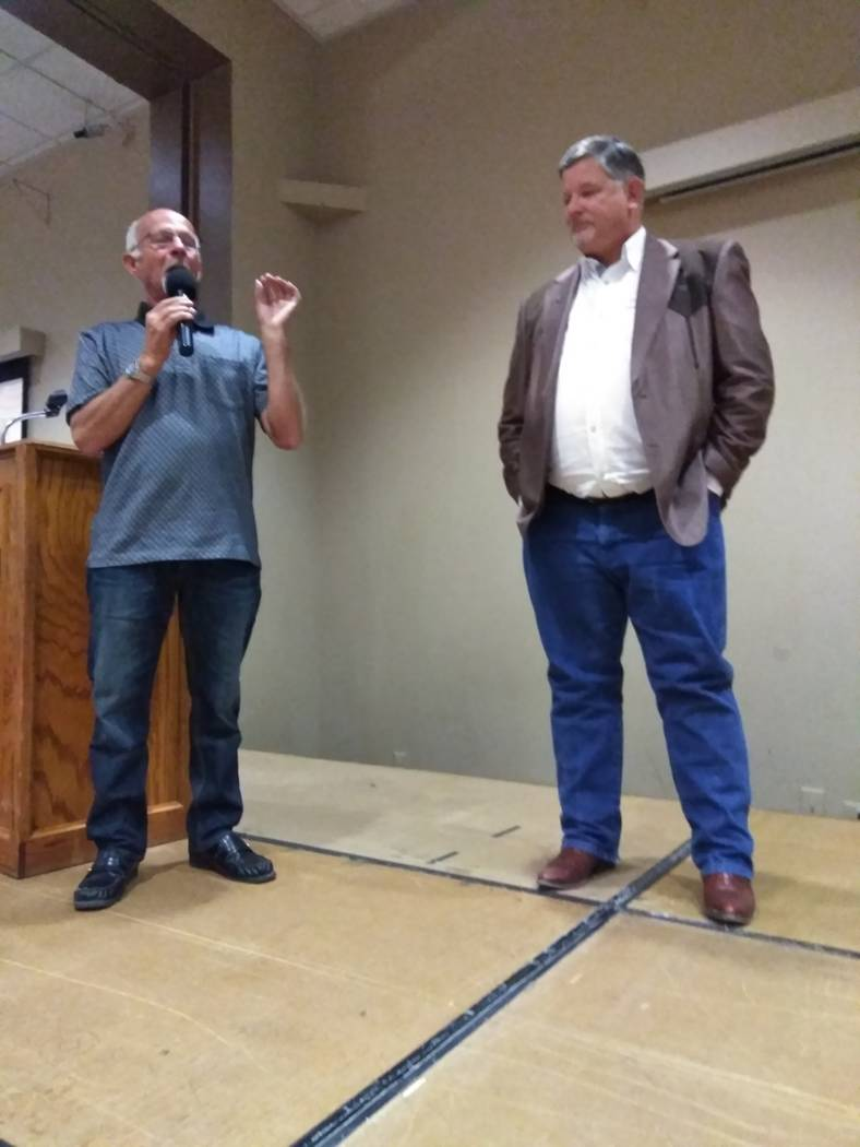 Selwyn Harris/Pahrump Valley Times Nevada District 36 Assemblyman James Oscar son generated $1,800 during the annual no to abuse celebrity auction on Saturday. Oscarson will provide dinner at Pahr ...
