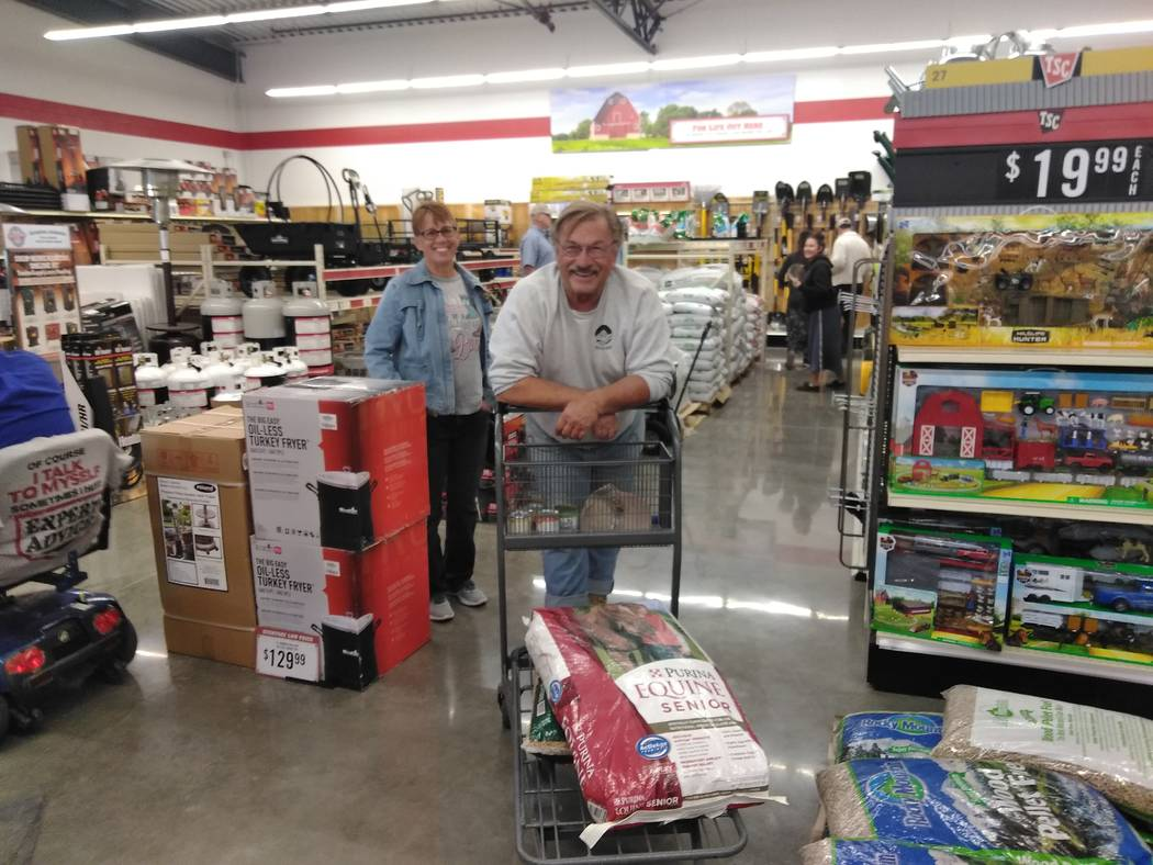 Selwyn Harris/Pahrump Valley Times  Pahrump resident John Pawlak makes his way around the Tractor Supply Company showroom after the business opened its doors earlier this month. Pahrump is the thi ...