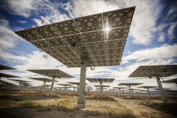 Jeff Scheid/Special to the Pahrump Valley Times Heliostats are seen at the Crescent Dunes Solar Project, located on BLM land northwest of Tonopah as shown in this file photo. NV Energy began recei ...