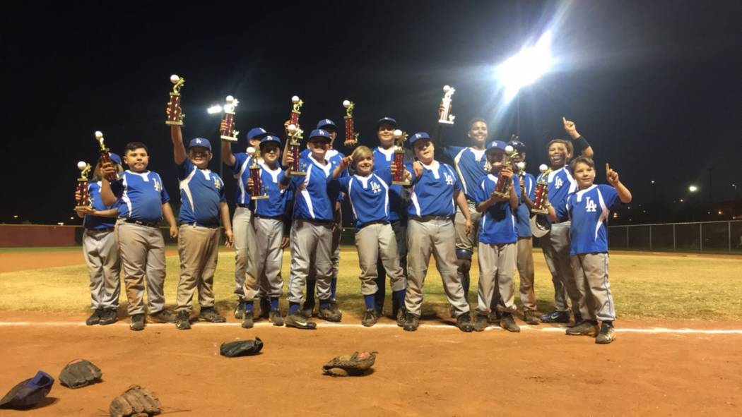 Special to the Pahrump Valley Times The P-Town Dodgers took first place in the majors' division during the 2017 Fall Ball Championship. P-Town Dodgers was one of two Pahrump teams that took the to ...