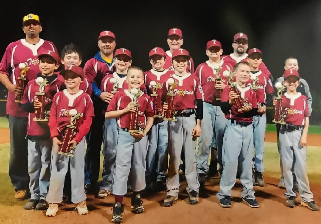 Special to the Pahrump Valley Times The P-Town Trojans, AAA division, won first place for the 2017 Fall Ball Championship. The final game was played at Doc Romeo Park in Las Vegas on Nov. 16 again ...