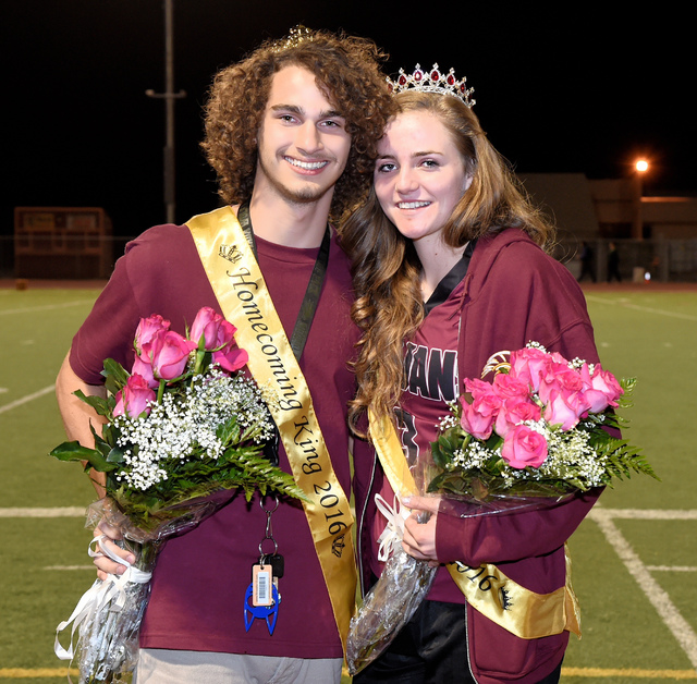 Peter Davis / Special to the Pahrump Valley Times Homecoming King David Sidhu and Queen Jill Smith pose for their moment.