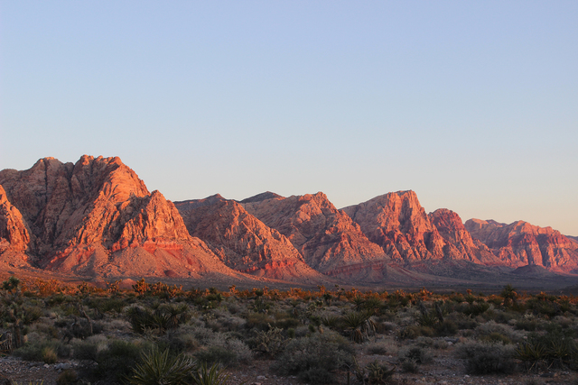 Red Rock Canyon National Conservation Area at sunrise. Deborah Wall/Special to the Pahrump Valley Times