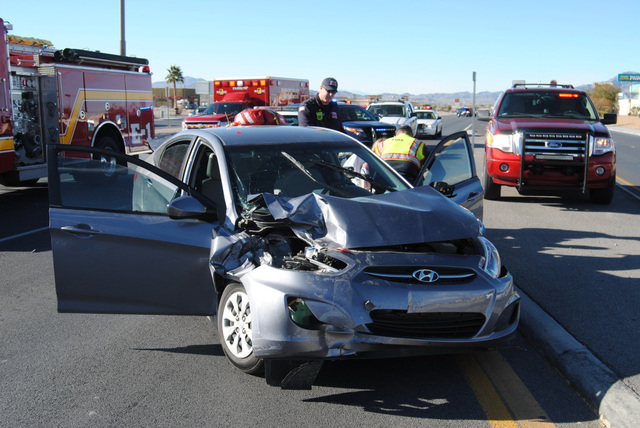 At least five people were transported to Desert View Hospital following a three-vehicle collision on Highway 160 north of Highway 372 on Thursday. Southbound traffic was detoured around the crash  ...