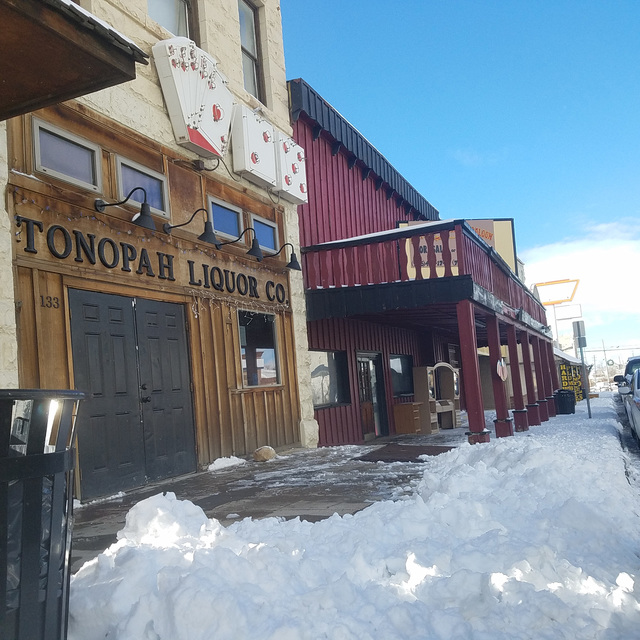 Snow in downtown Tonopah on Dec. 24, hours after the storm moved through, making for a white Christmas. David Jacobs/Times-Bonanza & Goldfield News