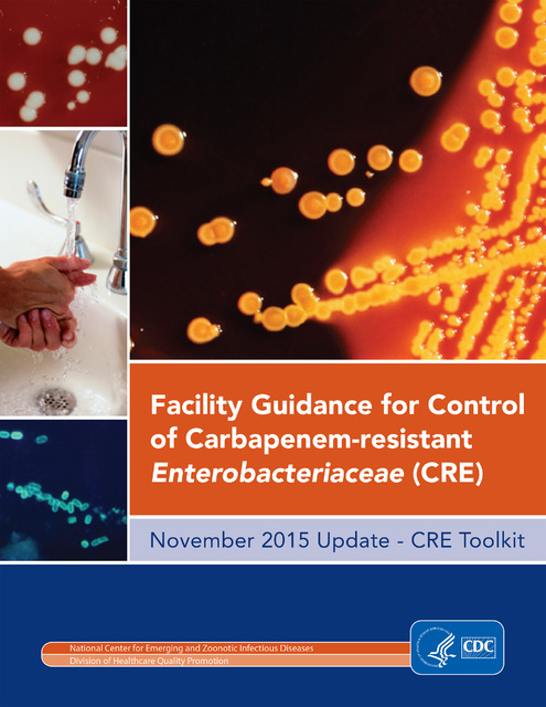 The cover of the Centers for Disease Control guidelines for dealing with carbapenem-resistant Enterobacteriaceae, or superbugs resistant to antibiotics. A Nevada woman died from a superbug last ye ...
