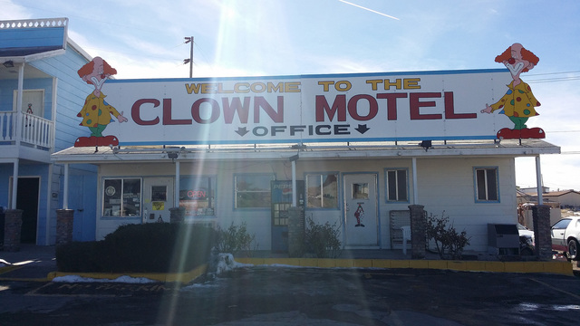 "The Clown Motel in Tonopah as shown in 2016. The motel recently was publicized by a Detroit TV station. The story from Simple Most referenced the Tonopah landmark as ""America's Scariest Motel. ..."