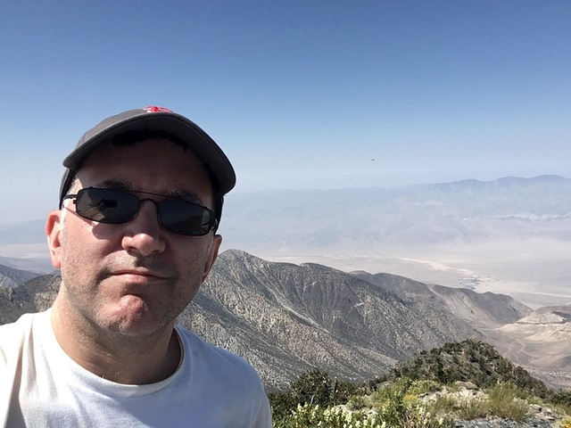 New Yorker writer Alex Ross takes a selfie during one of his many trips to Death Valley. The music critic waited eight years to write about the national park, using the wildflower superbloom of la ...
