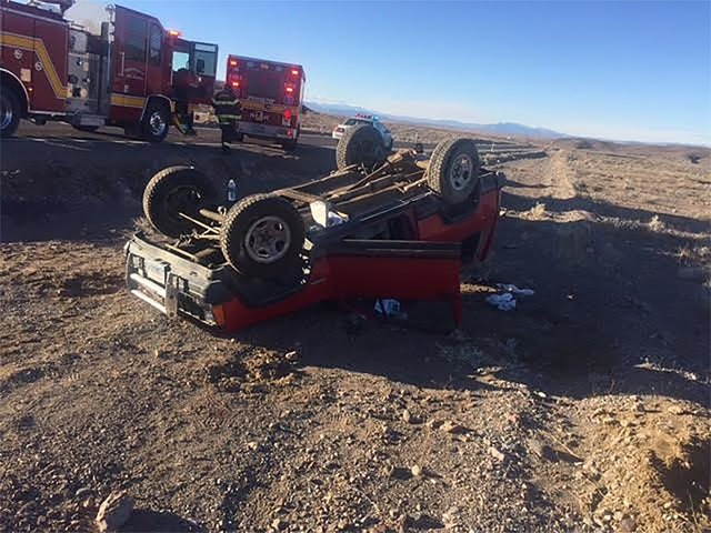 The driver of a red Jeep was transported to Desert View Hospital following a rollover crash along Bell Vista Road near Ash Meadows last Wednesday. The unidentified driver is expected to recover fr ...