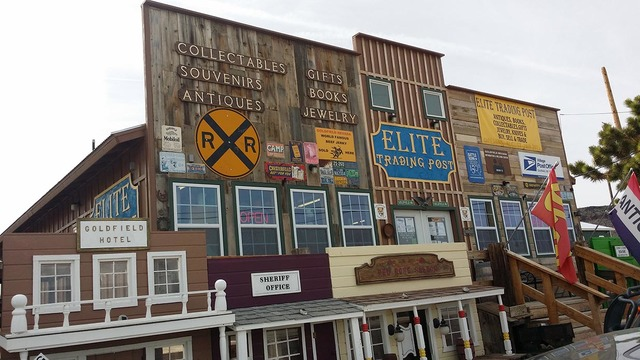 The Elite Trading Post in Goldfield as shown in 2016. The Davarpanahs have placed their various businesses and properties in Goldfield for sale.  David Jacobs/Times-Bonanza & Goldfield News