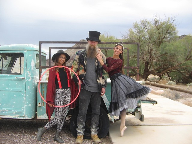 """Kayla Thomas, Jim Furlough, and ballet dancer Jenna McClintock are some of the performers in """"Teatro El Grande: Tecopa's Circus of Fine Art"""" debuting later this month on the grounds of Tecopa Ho ..."""
