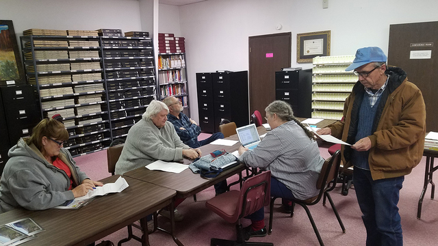 A look at the Central Nevada Museum Advisory Board meeting Jan. 31 at the museum in Tonopah. Efforts were discussed to keep the museum operating. One of the museum's founders, Allen Metscher, pr ...