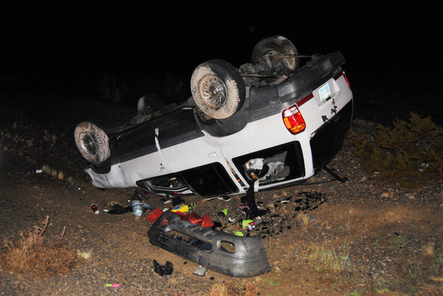 The occupants of a vehicle involved in a rollover crash declined medical treatment late Saturday evening. The incident occurred on South Highway 160 just after 10 p.m. NHP is investigating the cau ...