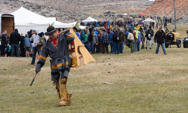 Nearly 2,000 Boy Scouts and their leaders attended the Mountain Man Rendezvous in Beatty last weekend. Richard Stephens/Special to the Pahrump Valley Times
