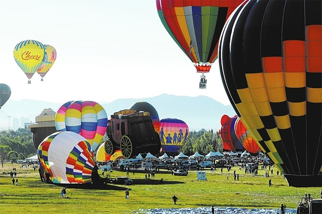 The early morning 'mass ascension' is always an eye-opener element during the annual Pahrump Balloon Festival at Petrack Park. The event kicks off on Friday and will run through Sunday. Organi ...