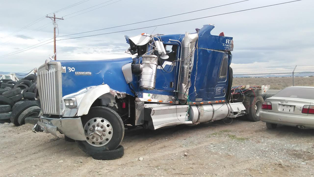 This Kenmore big rig was destroyed following a rollover crash along U.S 95 earlier this month. The driver hauling 40,000 pounds of apple escaped with minor cuts and scratches. The undamaged portio ...