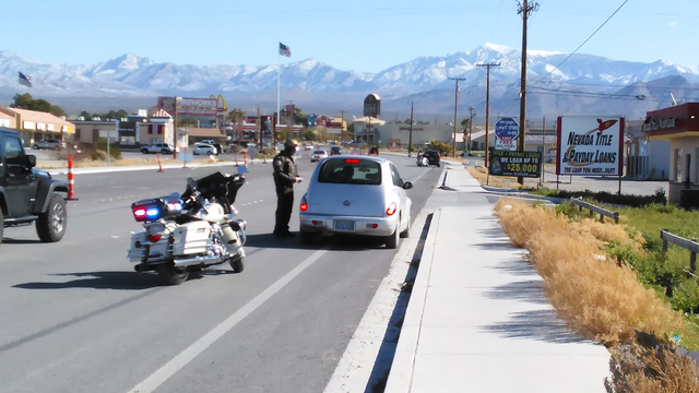 Nye County Sheriff's deputies are citing drivers for cutting through the parking lot of Big O Tires to access Highway 372. Deputies have issued more than 70 citations in the past two weeks.  Sel ...