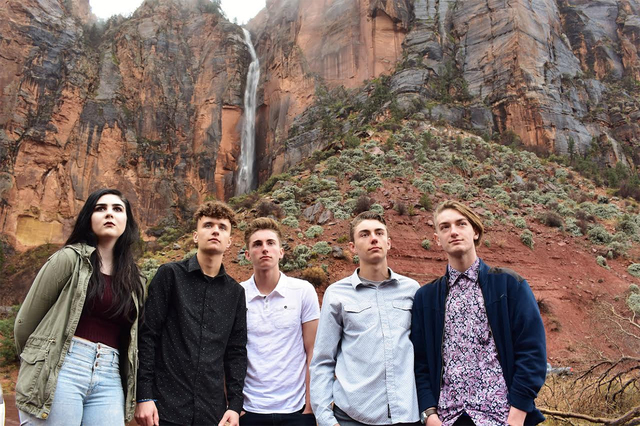 Tower of Cards' Brooklyn Thomassian, Ryan Ogle, Willie Lucas, Garrett Lucas and Adrian Grimaud will take the stage at the House of Blues tonight at 8 p.m.  Special to the Pahrump Valley Times