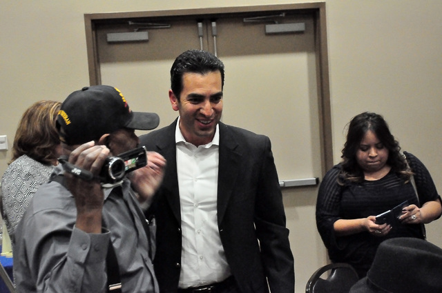 Ruben Kihuen at a Democratic fundraiser in Pahrump in April. The newly elected congressman wants to use his seat in Congress to reform the country's immigration laws, stop efforts to privatize S ...