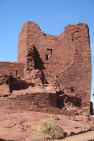 Wukoki Pueblo is one of the best preserved in the park and was thought to have been  occupied from 1120 to 1210. Photos by Deborah Wall/Special to the Pahrump Valley Times