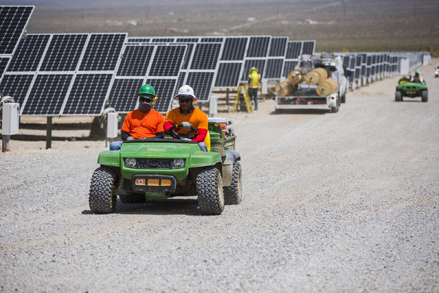 U.S. Senate Minority Leader Harry Reid announced the construction plan of the project with VEA CEO Tom Husted at the eighth annual National Clean Energy Summit in Las Vegas in August 2015. The pro ...