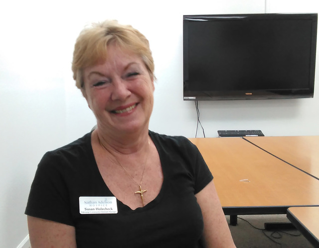 Nathan Adelson Hospice's Director Susan Holecheck said she's elated to have doctors and physicians tending to area residents in need of medical services, free of charge. The non-profit medical ...