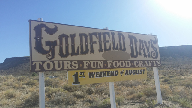 Excitement is building for Goldfield Days on Aug. 5-7 in that Esmeralda County community. Events include a parade,  classic car show, street dancing, live music, vendors and more.  This photo take ...