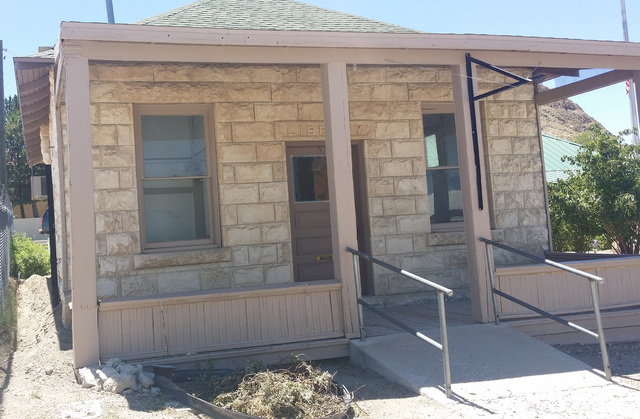 A look at Tonopah's historic old library as shown in a July photo. Volunteer efforts are underway to restore the building that's been used for storage since 2000 when a new library opened next doo ...