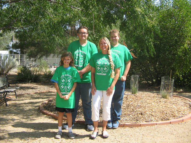 The 4-H Community Club is hosting a pet food/supply drive on Saturday, Aug. 27, from 10 a.m. to 4 p.m. at Walmart. The event is to support Desert Haven Animal Society. From left is club member Zai ...