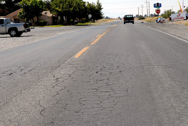 Horace Langford Jr. / Pahrump Valley Times  Plans to improve Pahrump Valley Boulevard from Nevada State Route 372 to Calvada Boulevard includes adding bike lanes. The project is estimated to cost  ...
