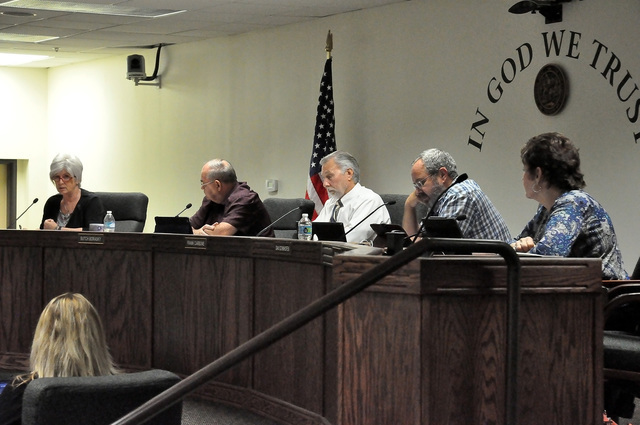 Horace Langford Jr. / Pahrump Valley Times  After a heated discussion, Nye County commissioners on Tuesday voted to use its lone bill draft request to try to eliminate the state law that set up th ...