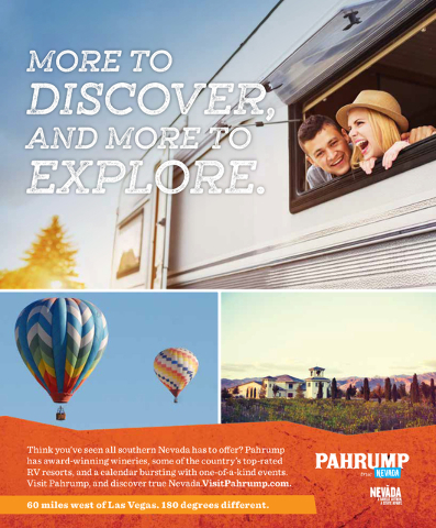 The board of county commissioners approved the town of Pahrump Tourism Board's fiscal year 2017 budget. The funds will go toward various projects aimed at drawing tourists to the area, like this ...