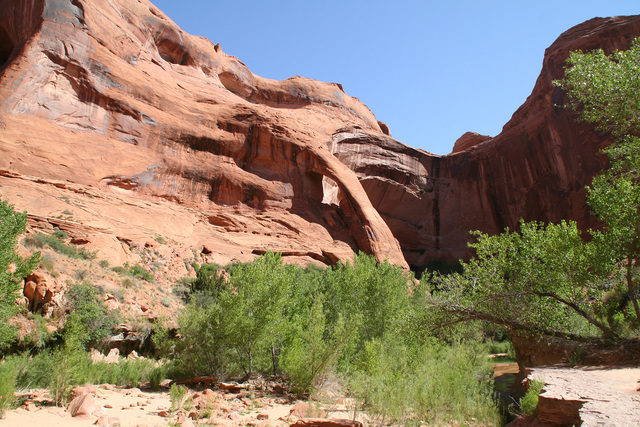 Coyote Gulch is a popular backpacking destination located in Glen Canyon National Recreation Area. Deborah Wall/Special to the Pahrump Valley Times