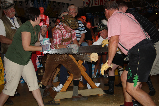 Log-sawing is just one of the competitions that visitors can take part in at the 46th Annual Oktoberfest, which runs Saturdays and Sundays through the end of October at Big Bear Lake, California.  ...