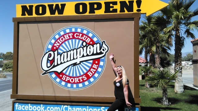 Champions Sports Bar owner Brandi Tassler said her new establishment will be the 'place to be' for locals looking to have a good time. The business is located at 631 Linda St. Selwyn Harris /  ...