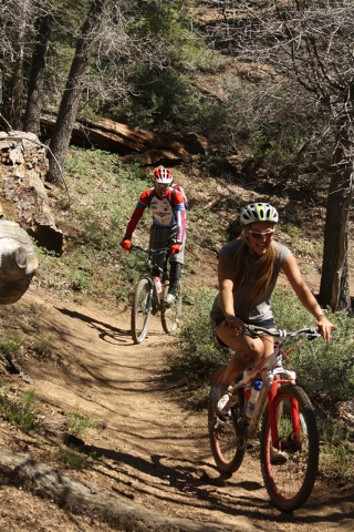 There are mountain biking and hiking trails for all ages and abilities, and some can be accessed by chairlift at Snow Summit Ski Area near Big Bear Lake in California. Deborah Wall/Special to the  ...