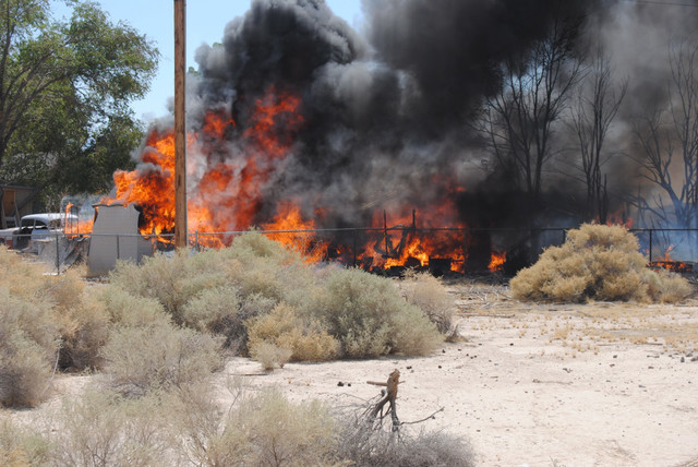 A brush fire set off a structure fire at a residence along Kimbery Street early Saturday afternoon. The fire destroyed several outbuildings as well as a classic 1968 Cadillac. It took firefighters ...