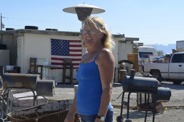 Ann Hare, one of the residents of the property in the 1100 block of Dyer Road in Pahrump. Nye County commissioners said they would inspect the property and bring a safety report to the next meetin ...