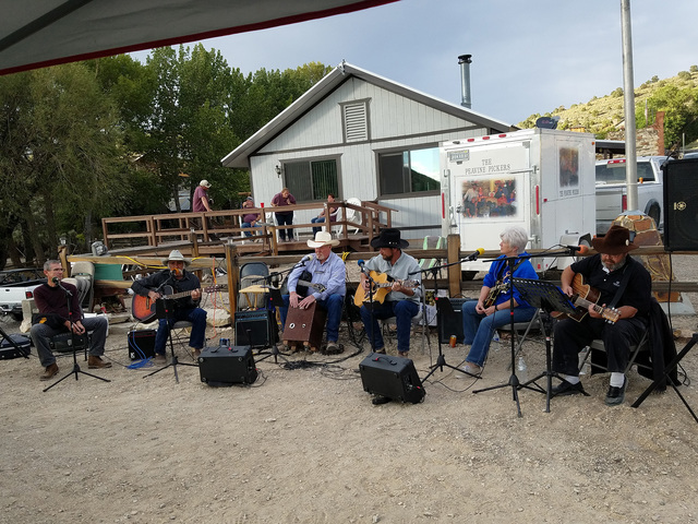 Here's a look at the festivities on Sept. 3 in the historic Nevada community of Belmont. This photo shows a musical performance featuring the Peavine Pickers, including Nye County Commissioners Lo ...