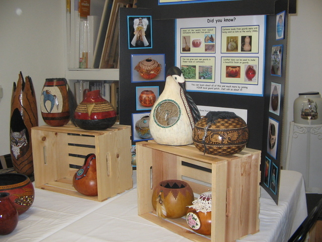 Gourds can be painted, carved, and wood burned to create incredible artwork in the form of vases, baskets, containers, birdhouses and more. Brenda M. Klinger/Special to the Pahrump Valley Times