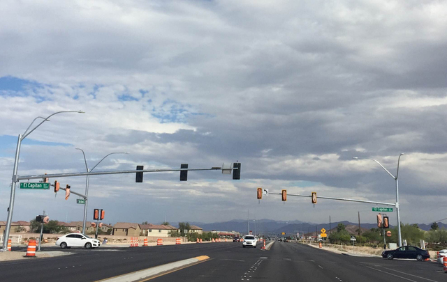 The Nevada Department of Transportation will activate two new four-way signalized intersections at State Route and Fort Apache Road, and at El Capitan Way, pictured here, on the Las Vegas side Thu ...