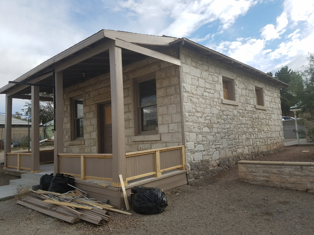 Tonopah's old library is scheduled to be rededicated Oct. 15. The wooden railings on the porch recently were upgraded as part of an extensive restoration effort. The old library closed about 16  ...